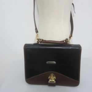 Vtg POLO Ralph Lauren Hard Leather Crossbody Bag